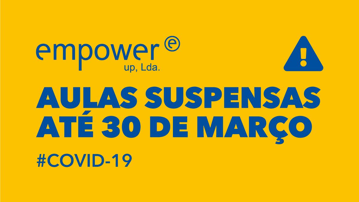 Aulas suspensas até 30 de março